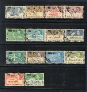 British Antarctic Territory 1971 25-38 set of 14 FU