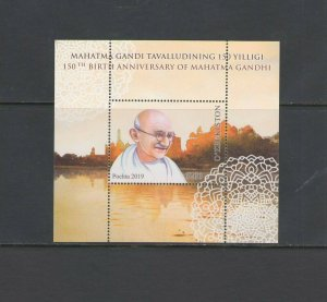UZBEKISTAN: 2019 N I   / **150th ANNIV-MAHATMA GANDHI**/ Sheet of 1 / MNH