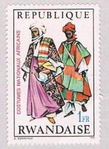 Rwanda Costumes one franc (AP121701)