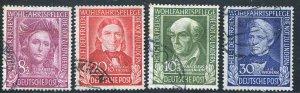 1949 Germany Postage Set Used  B310 - B313  CV $145.50