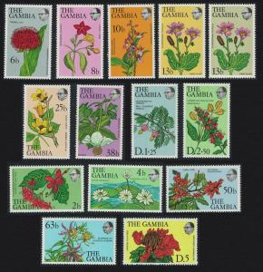 Gambia Flowers and Shrubs 14v COMPLETE SG#371-383 MI#345-357