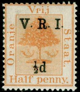 SOUTH AFRICA - Orange Free State SG123, ½d on ½d orange, M MINT.