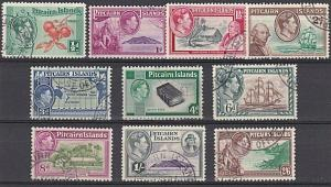 PITCAIRN 1940 GVI definitve set complete with 4d & 8d fine used............57322