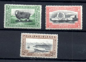 Falkland Islands 1933 values to 2d LHM WS18439
