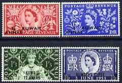 Kuwait 1953 Coronation set of 4 mtd mint SG 103-6