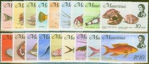 Mauritius 1969 Sea Life set of 18 SG382-399 Superb MNH