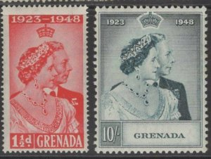 GRENADA SG166/7 1948 SILVER WEDDING MNH