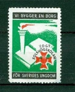 Sweden Poster Stamp  Mnh. 1949  IOGT  Godtemplar Order
