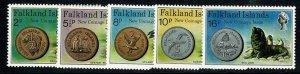 Falkland Islands.Falkland Islands. 1975 New Coinage. Set of 5 vals UM. SG 316-20