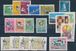 Thematic lot stamp 1959-1990 18 diff stamps with sets MNH WS206368