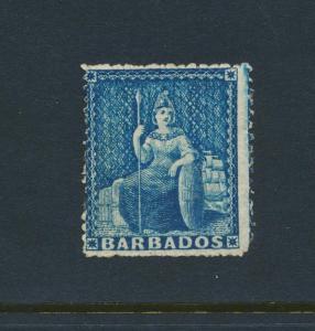 BARBADOS 1861, 1d VF MINT SG#23 (SEE BELOW)