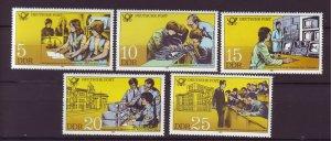 J25323 JLstamps 1981 germany DDR mnh set #2161-5 designs