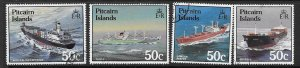 PITCAIRN ISLANDS SG296/9 1987 SHIPS FINE USED