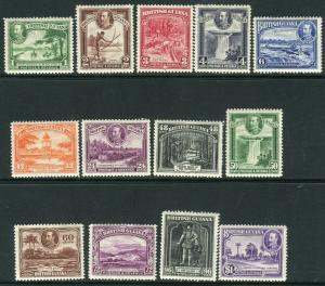 BRITISH GUIANA-1934-51 A lightly mounted mint set to $1 Sg 288-300