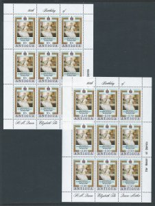 Antigua #584-5 NH Queen Mother 80th Birthday (2 Sheetlets of 9)