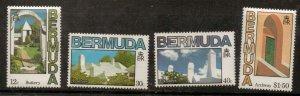 BERMUDA SG486/9 1985 ARCHITECTURE MNH