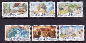 Guernsey-Sc#893-8-used set-International Tourist Attractions-2006-