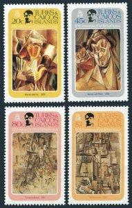 Turks & Caicos 481-484,485,MNH.Michel 537-540,Bl.31. Pablo Picasso,1981.