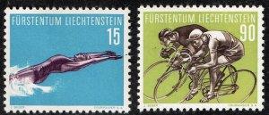 Liechtenstein Stamp 1958 Sport MH/OG STAMP  15, 90 RP