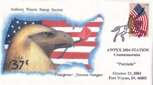 2004,  Patriotic AWPEX Cover, Jenna Yeager, (E12248)