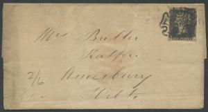 GB #1 ON FOLDED LETTER MAY 1841 BS2638