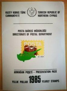1985 PRESENTATION PACK (8 pics) MNH INCLUDING STAMPS - SET TURKISH CYPRUS