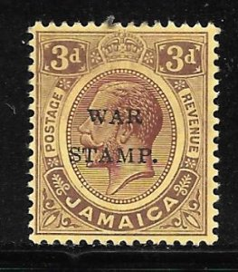 Jamaica MR6c: 3d George V, MH, F-VF