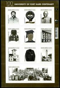HERRICKSTAMP NEW ISSUES SOUTH AFRICA University of Fort Hare Sheetlet