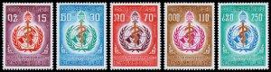 Laos Scott 163-167 (1968) Mint NH VF Complete Set W