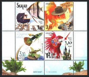 Croatia. 2016. 1212-15. Aquarium fish. MNH.