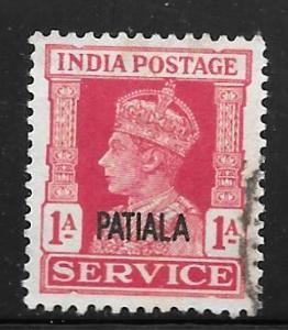 India Patiala O67: 1a George VI, used, F-VF