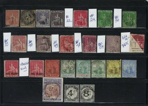 TRINIDAD SMALL COLLECTION (24 STAMPS) SCOTT #1 TO #91- ALL USED- HIGH CAT VALUE