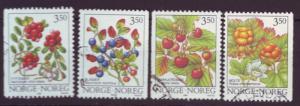 J3639 JLstamp 1995-6 norway used set/4 #1086-9 berries