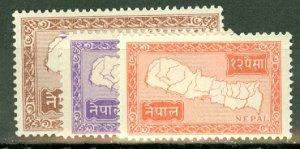 Nepal 72, 74-77 MNH low values of set CV $34.50