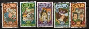 ANTIGUA SG526/30 1977 SILVER JUBILEE p14 MNH