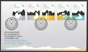 ROSS DEPENDENCY NEW ZEALAND 2009 Antarctic Treaty FDC......................55657
