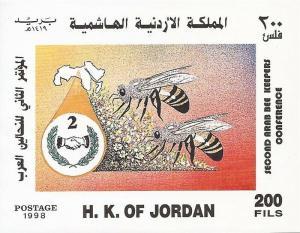 Jordan - 1998 Beekeepers Conference - Souvenir Sheet - Scott #1608