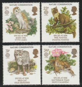 GB 1986 EUROPA Stamps Nature Conservation MNH SG#1320-1323 S1078