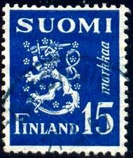 Arms, Lion, Finland stamp SC#273 used