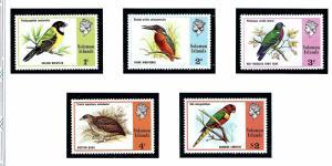 Solomon Is 280-84 MNH 1975 Birds