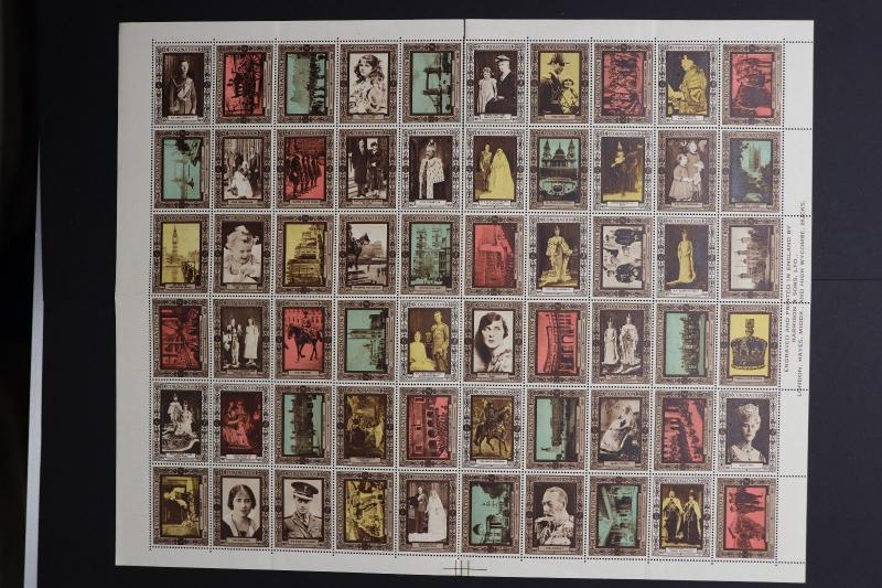 Coronation vignette Poster stamp full 60 sheet 1937 King Queen GB UK Royal DM