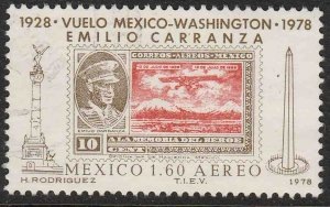 MEXICO C569, 50th Anniv Flight of Emilio Carranza Used F-VF. (1079)