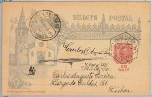 50862  - PORTUGAL -  POSTAL HISTORY - STATIONERY CARD -  Michel # P45 1898