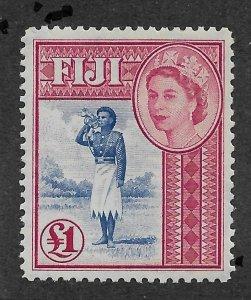 Fiji 1954,Queen Elizabeth-II, £1 Scott # 162,VF MNH**OG (BL-II)