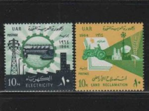 EGYPT #627-628  1964 LAND RECLAMATION     MINT  VF NH  O.G