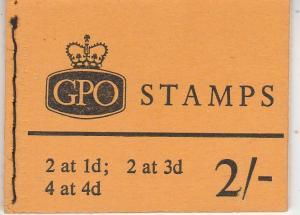 Great Britain #354f, 358b  Complete Booklet CV $15.25 (K1792L)