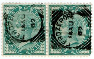 (I.B) India Postal : Postmark (Ferozepore)
