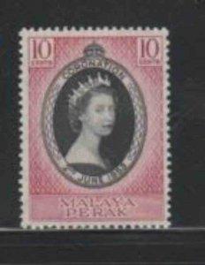 MALAYA-PERAK #126 1953 CORONATION ISSUE MINT VF LH O.G