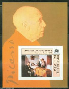 UPPER VOLTA PABLO PICASSO  IMPERFORATED SOUVENIR SHEET  MINT NH
