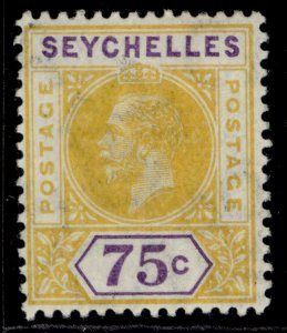 SEYCHELLES GV SG79, 75c yellow & violet, M MINT.